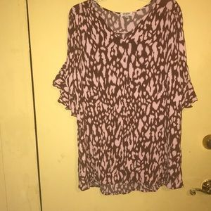Umgee blouse pink and brown